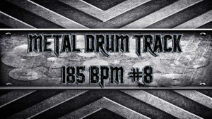 Metal Drum Track 185 BPM #8