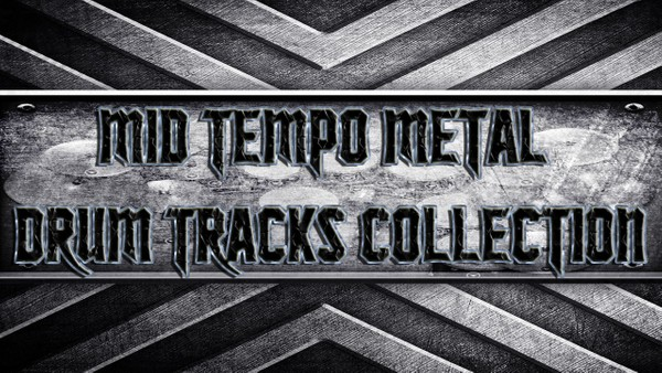 Mid-Tempo Metal Drum Tracks Collection