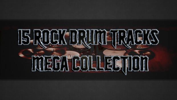 15 Rock Drum Tracks Mega Collection