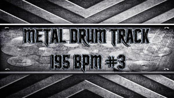 Metal Drum Track 195 BPM #3