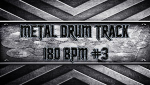 Metal Drum Track 180 BPM #3