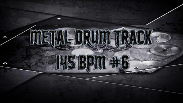 Metal Drum Track 145 BPM #6