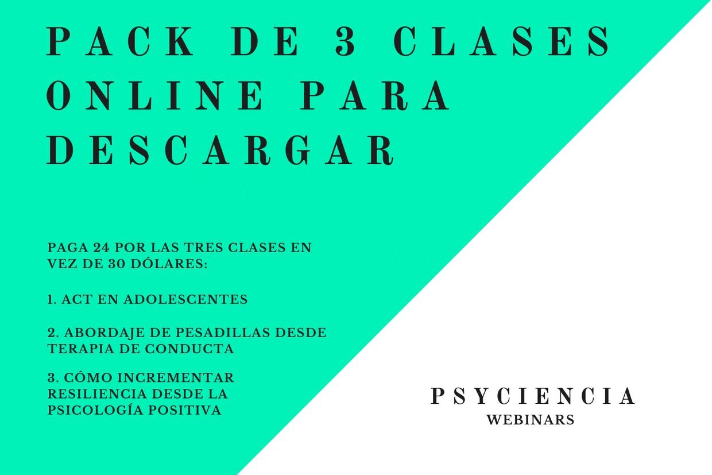 Pack de 3 clases de psicología clínica por 24 dólares