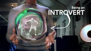 Introverts bubble (soap bubble, waterdrop) C4D Octane material