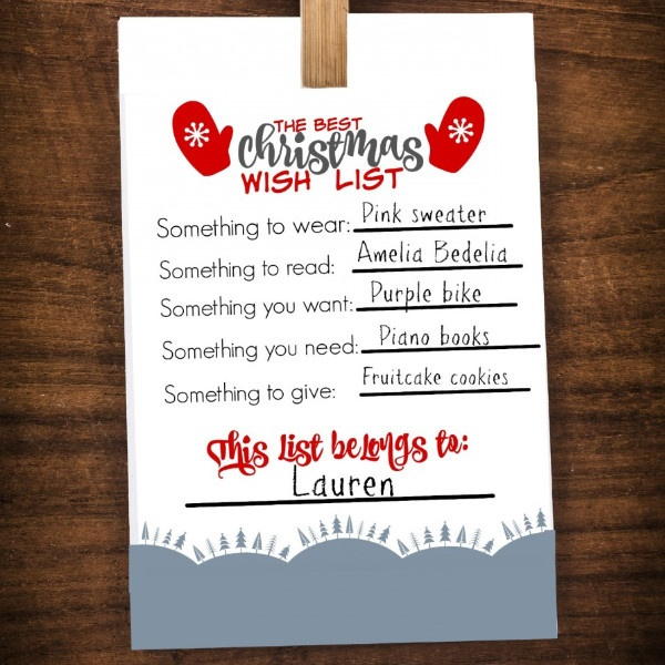 photograph relating to Christmas Wish List Printable referred to as Least difficult Xmas Drive Listing Printable