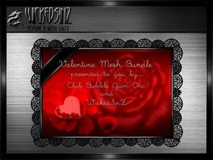 Valentine Bundle - 9 Mesh + 99 Textures (3 Texture Packs) $40.00 Early Bird Price