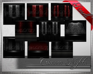 Crimson Nights - Resell Pack - 39 Textures- $12.00
