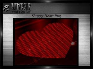 Valentine Shaggy Heart Rug MESH - $2.00