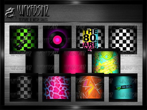 Back to the 80's - 27 Textures $ 7.50