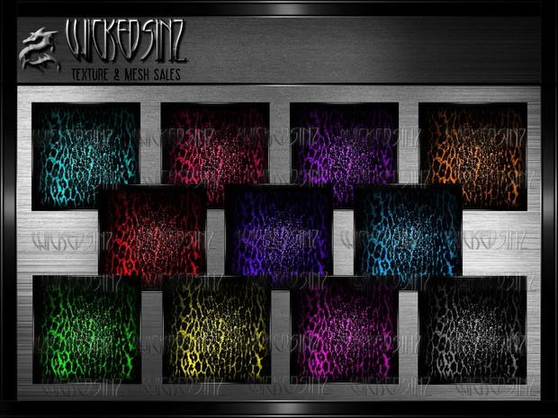 Cheetah Glitter - 11 Colors $ 2.50