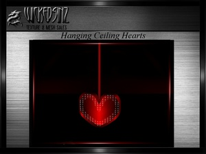 Valentine's Hanging Ceiling Hearts MESH - $3.00