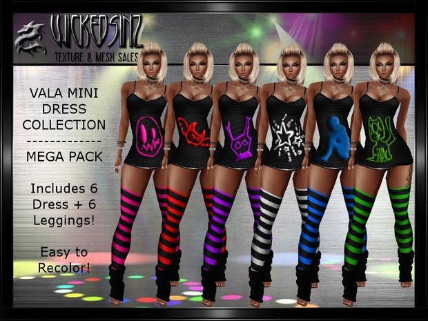 Vala Mini Dress Collection - Mega Pack $6.00