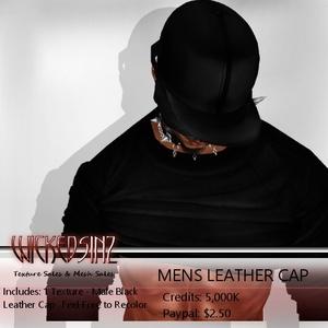 Mens Leather Cap