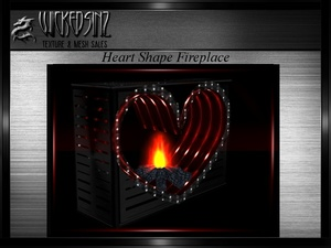 Valentine Heart Shape Fireplace MESH - $5.00