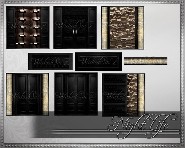 Night Life Blk - Bar Furniture - 10 Textures - $3.00