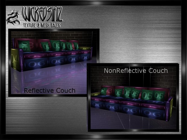 Couch 1 - Reflective & Non - $2.00