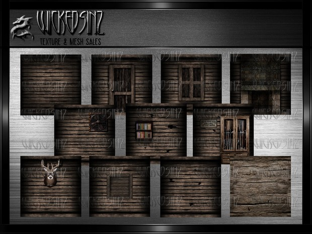 Creepy Old Cabin - 17 Textures $ 7.50