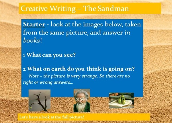 The Sandman Creative Poetry Writing Lesson