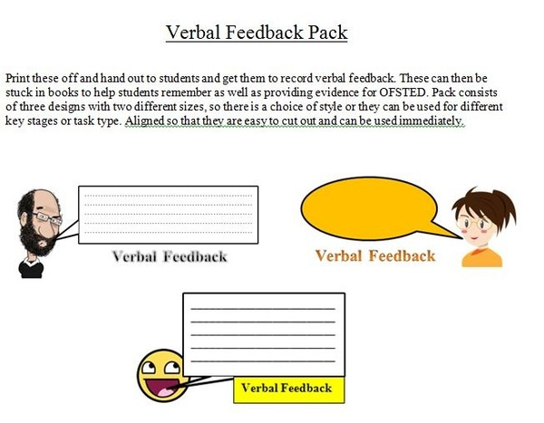 Verbal Feedback Pack