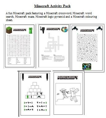 Minecraft Activity Pack