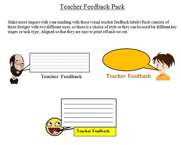 Teacher Feedback Pack
