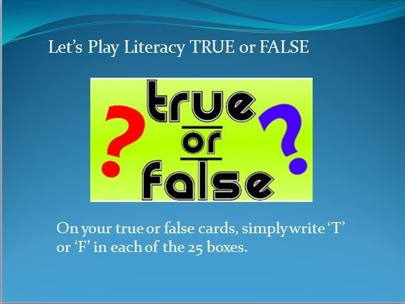 literacy True or False