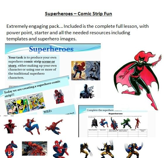 Superheroes - Full Lesson Pack