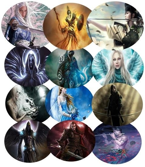 12 Pack Fantasy Art Disks