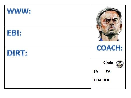 Football Themed Assessment Grid