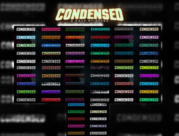 Condensed Pack: 70+ LAYER STYLES