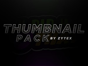 Thumbnail Pack (4 CUSTOMISABLE TEMPLATES)