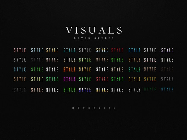 VISUALS: Layer Style Pack (50 Layer Styles)