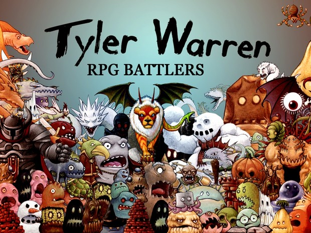 FREE - Tyler Warren RPG Battlers Desktop Wallpaper