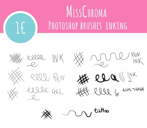 INK 7 Brushes for Photoshop