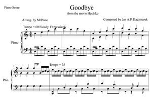 Goodbye - Hachiko (PIANO SHEET)