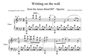 James Bond: Spectre - Writing's on the Wall (PIANO SHEET)
