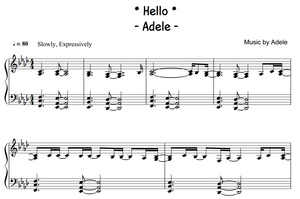 Adele - Hello (PIANO SHEET)