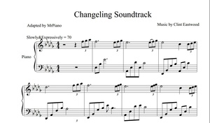 Changeling Theme - by Clint Eastwood (PIANO SHEET)