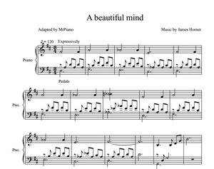 A Beautiful Mind Theme (PIANO SHEET)