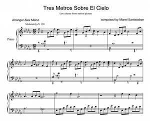 3MSC love theme - by Manel Santisteban (PIANO SHEET)
