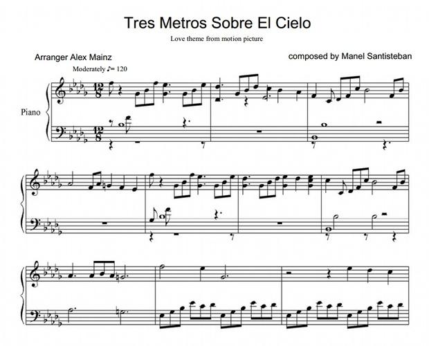 3MSC love theme - by Manel Santisteban (PIANO SHEET)