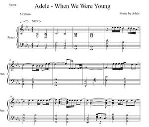 Adele - When We Were Young (Piano sheet)