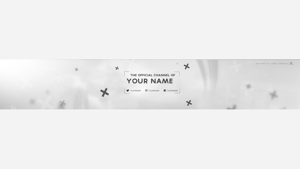 Clean Youtube Banner Template! - Gamhy