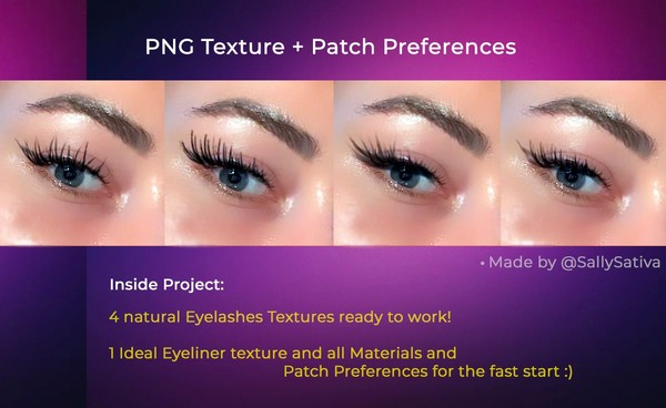 Realistic Eyelashes + Eyeliner for Spark AR | Ресницы + подводка для Spark AR