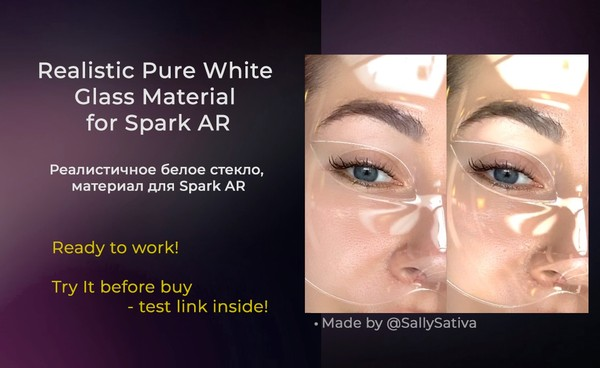 Realistic Pure White Glass Material for Spark AR | Реалистичное белое стекло, материал для Spark AR