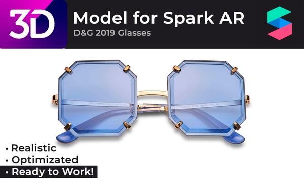 Photo-realistic 3D Model of Dior 2019 Glasses |  Очки Dior 2019, фотореалистичная модель