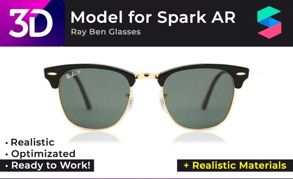 3D Ray Ben Glasses + Realistic Materials |  Очки Ray Ben + Реалистичные материалы