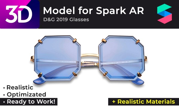 3D D&G 2019 Glasses + Realistic Materials |  Очки D&G 2019 + Реалистичные материалы