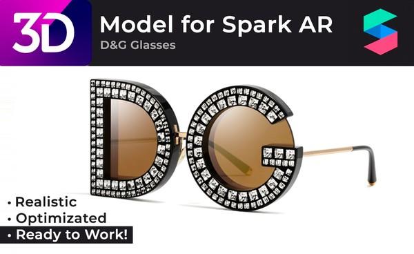 Photo-realistic 3D Model of D&G Glasses |  Очки D&G, фотореалистичная модель