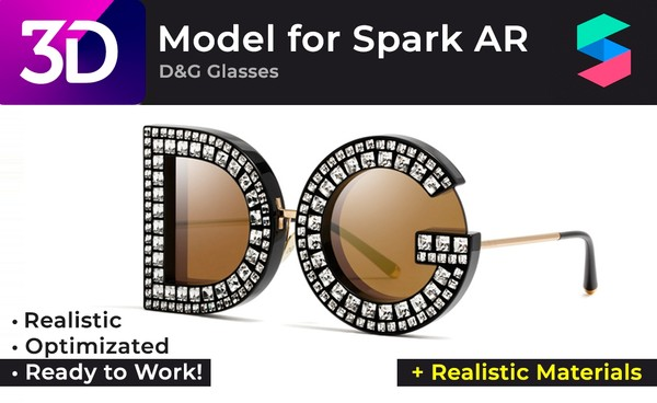 D&G Glasses + Realistic Materials |  Очки D&G + Реалистичные материалы